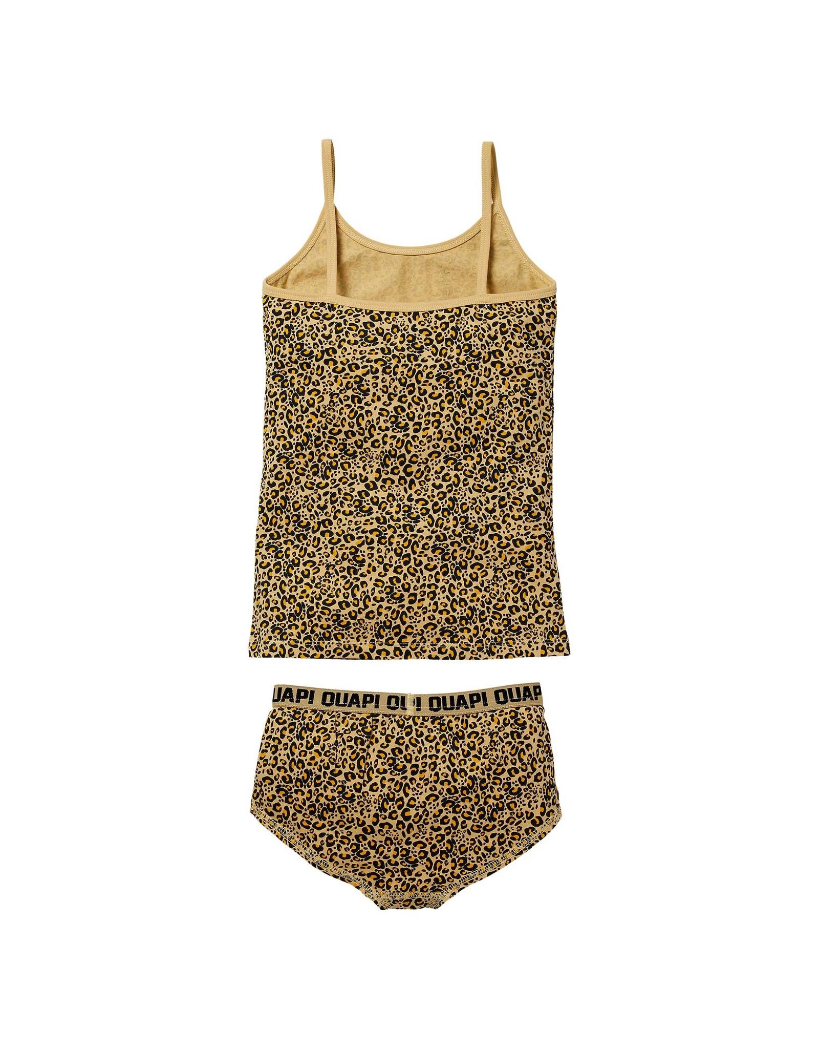 Quapi Quapi meisjes ondergoed setje Pip Sand Leopard aop