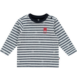 Vingino Vingino baby jongens gestreept shirt Joas Dark Blue