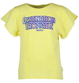 Vingino Vingino meiden t-shirt Hevelien Pale Yellow