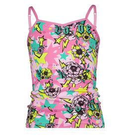 Vingino Vingino meiden ondergoed hemd Flower Space Warm Pink
