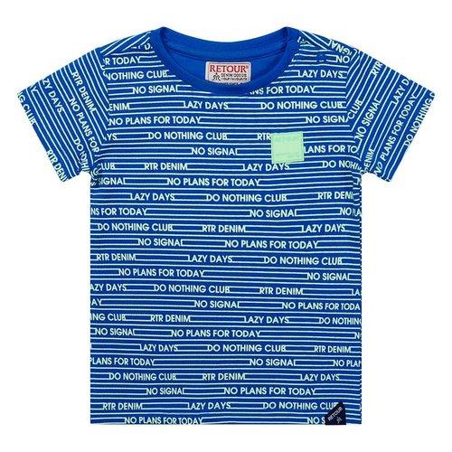 RETOUR Retour baby jongens t-shirt Fedde Mid Blue