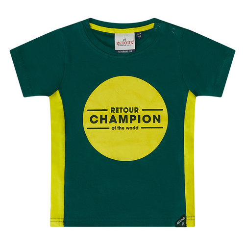 RETOUR Retour baby jongens t-shirt Guus Teal