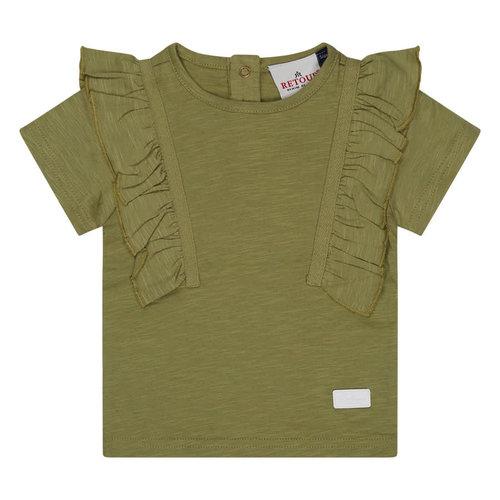 RETOUR Retour baby meisjes t-shirt Angel Light Khaki