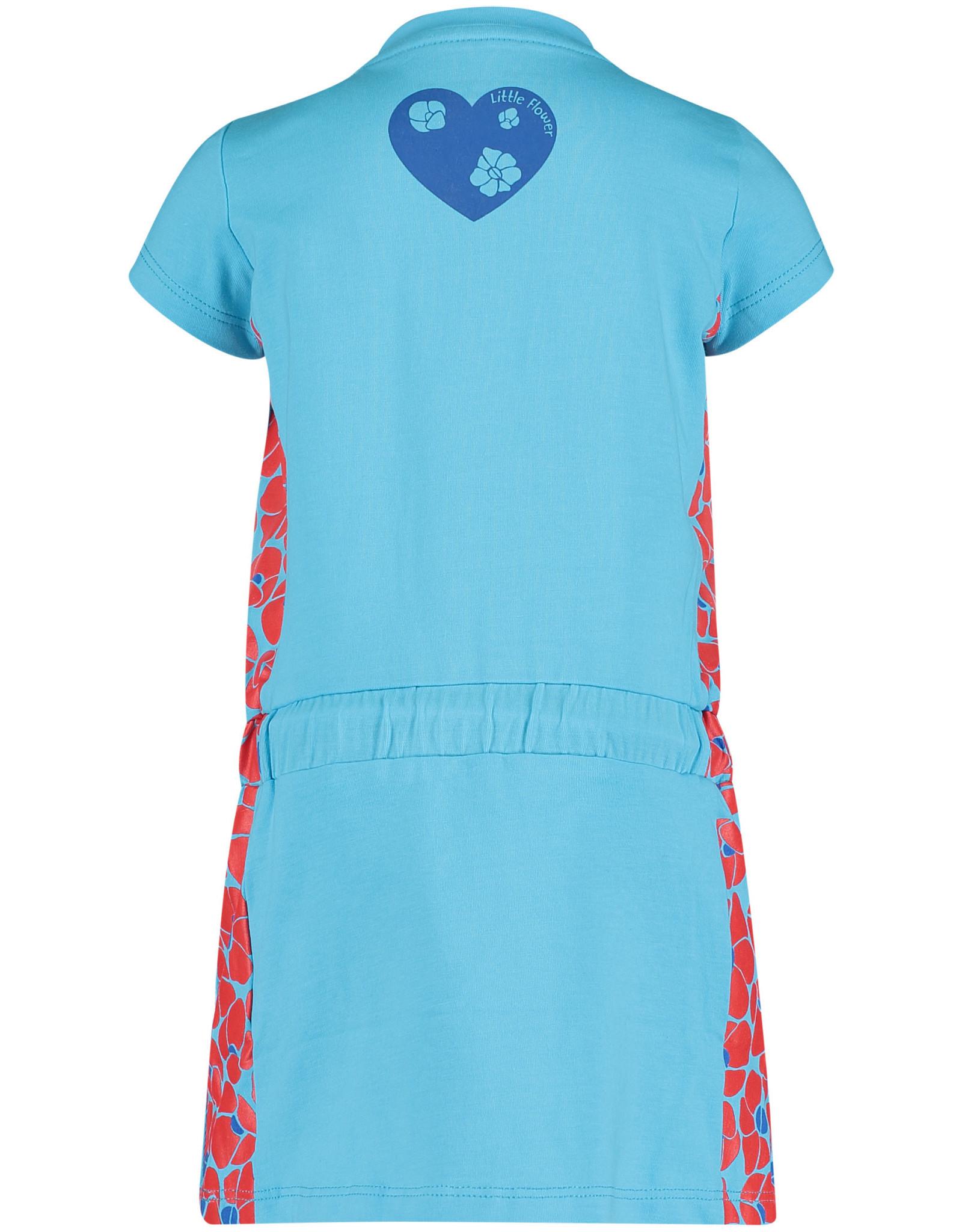 4President 4President meisjes korte mouwen jurk Tana Turquoise