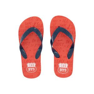Quapi Quapi jongens slippers Austin Vin Red Text