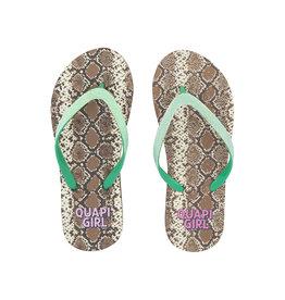 Quapi Quapi meisjes slippers Anika Snake aop
