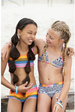 Just Beach Just Beach meiden bikini Surf Black/White tiki