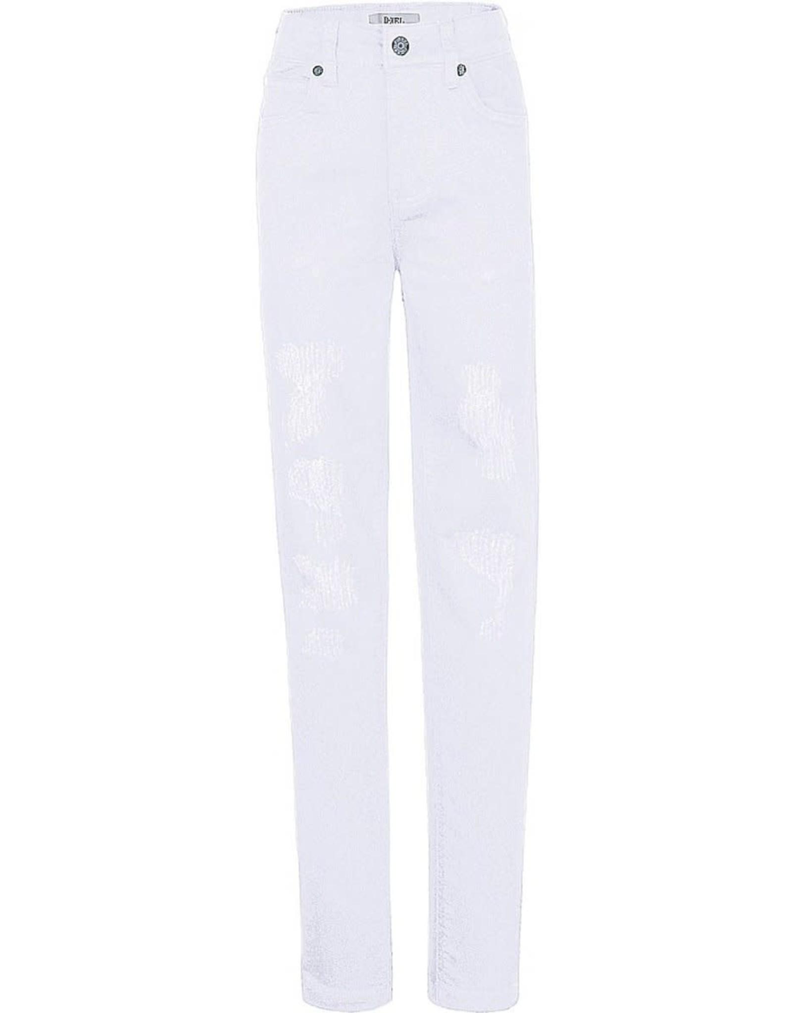 D-Xel D-Xel meiden High Waist Slim jeans Donna White
