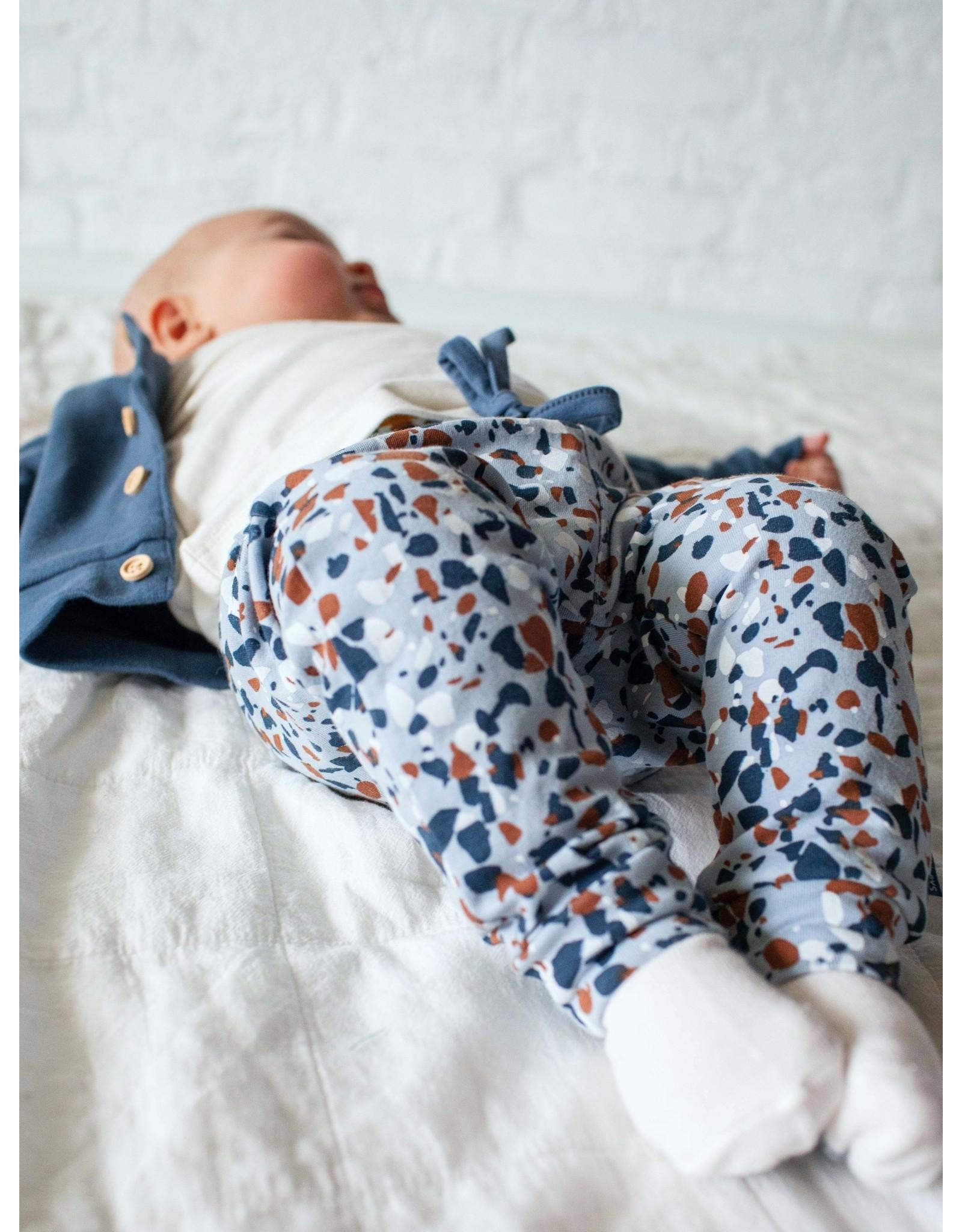 Quapi Quapi newborn baby jongens joggingbroek Noah Baby Blue Spots