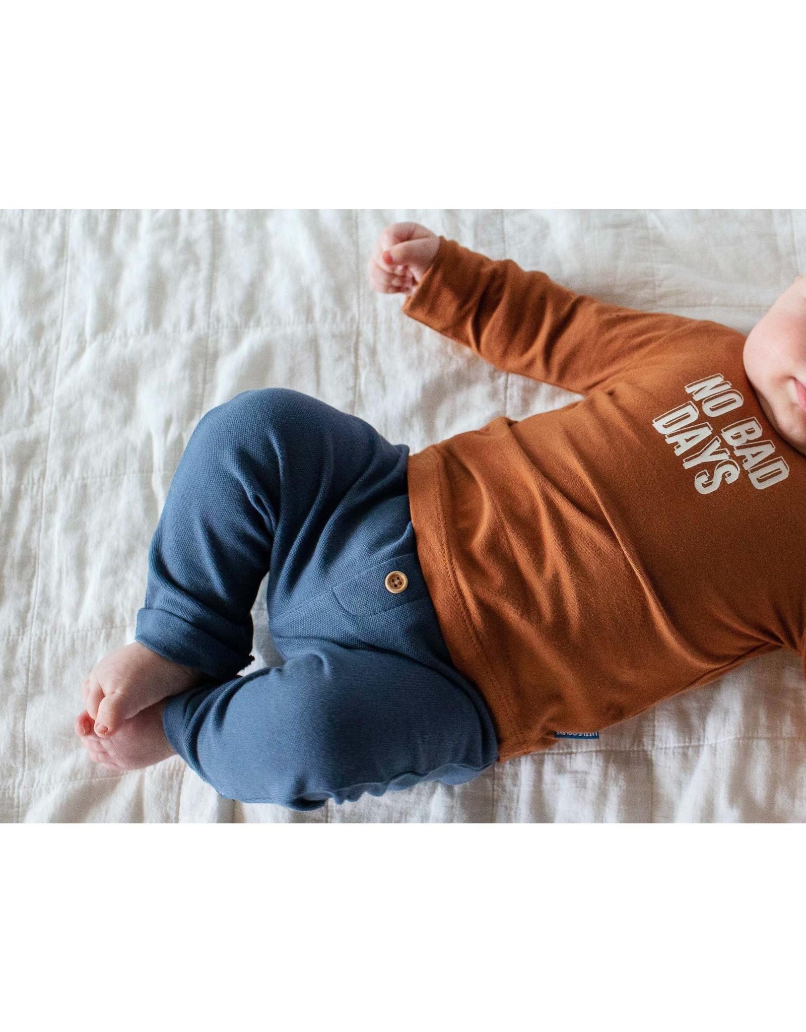 Quapi Quapi newborn baby jongens joggingbroek Nino Denim Blue