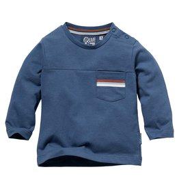 Quapi Quapi newborn baby jongens shirt Nick Denim Blue