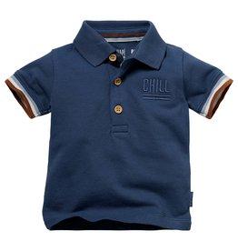 Quapi Quapi newborn baby jongens polo t-shirt Niek Denim Blue