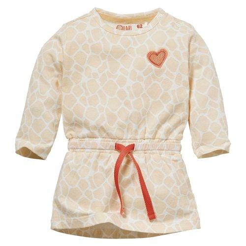 Quapi Quapi newborn baby meisjes jurk Nadine Sand Giraffe