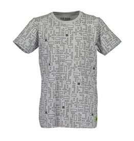 Blue Seven Blue Seven jongens t-shirt Encoded Med Grey
