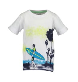 Blue Seven Blue Seven jongens t-shirt Beach Court White