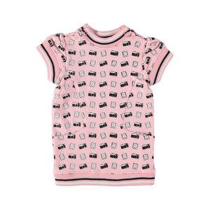 4President 4President baby meisjes korte mouwen jurk Amaya Pink aop