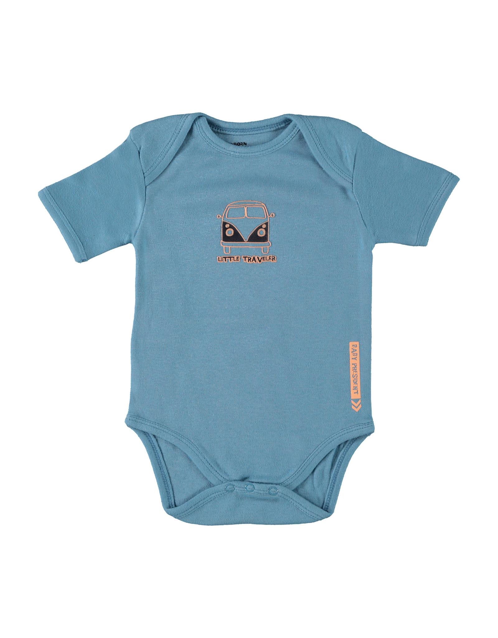 4President 4President newborn baby jongens romper River Middle Blue