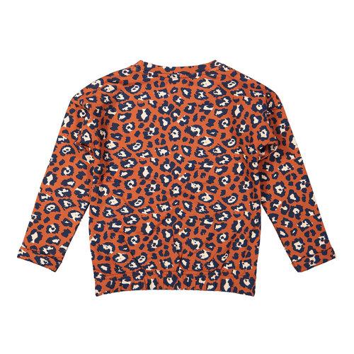 DJ Dutchjeans DJ Dutchjeans meisjes sweater Fearless Navy Rusty Brown