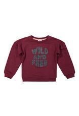 DJ Dutchjeans DJ Dutchjeans meisjes sweater Wild and Free Brique Red
