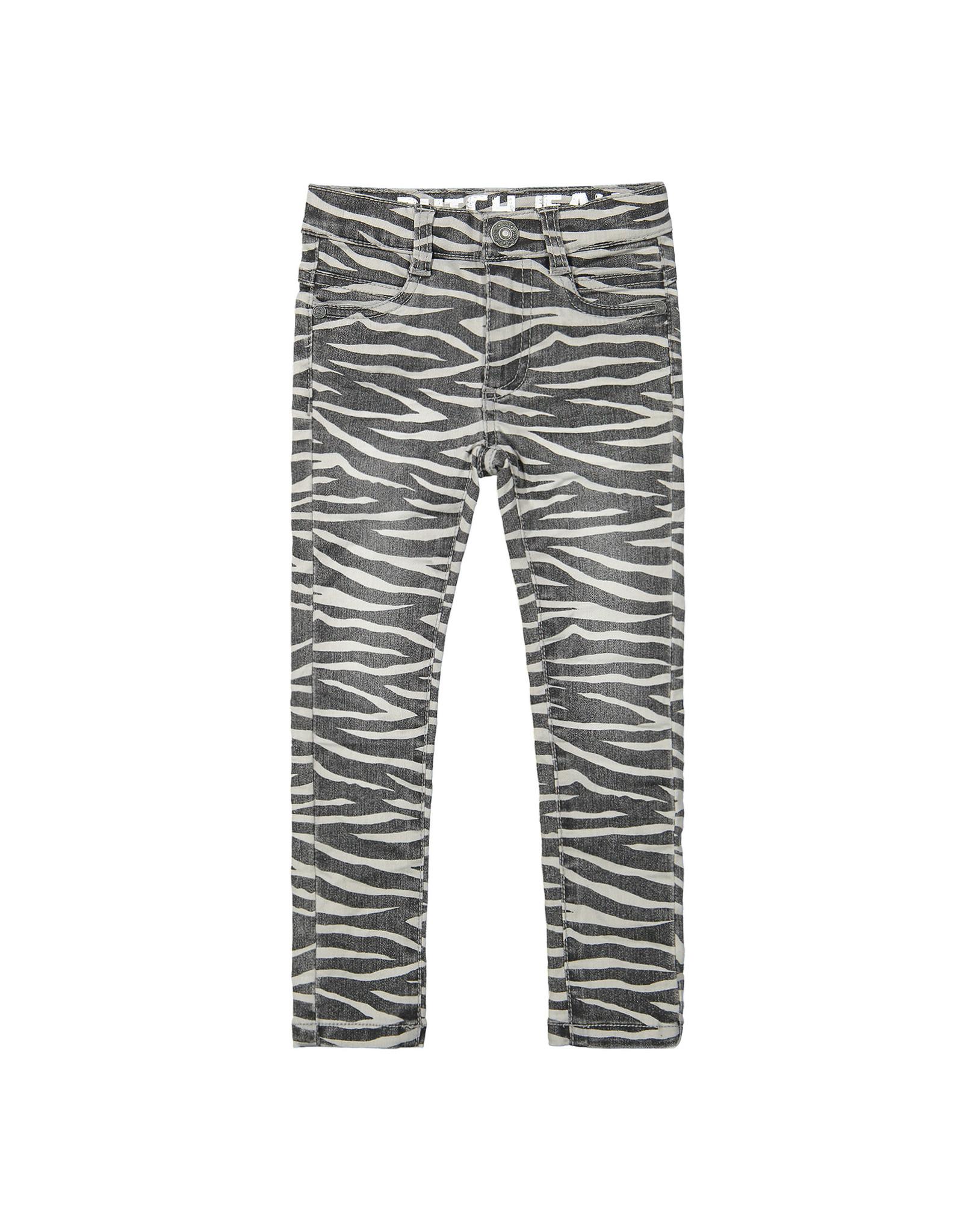 DJ Dutchjeans DJ Dutchjeans meisjes jeans Animalprint Grey