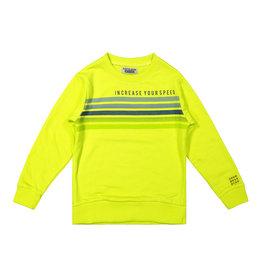 DJ Dutchjeans DJ Dutchjeans jongens sweater Increase your Speed Faded Neon Green