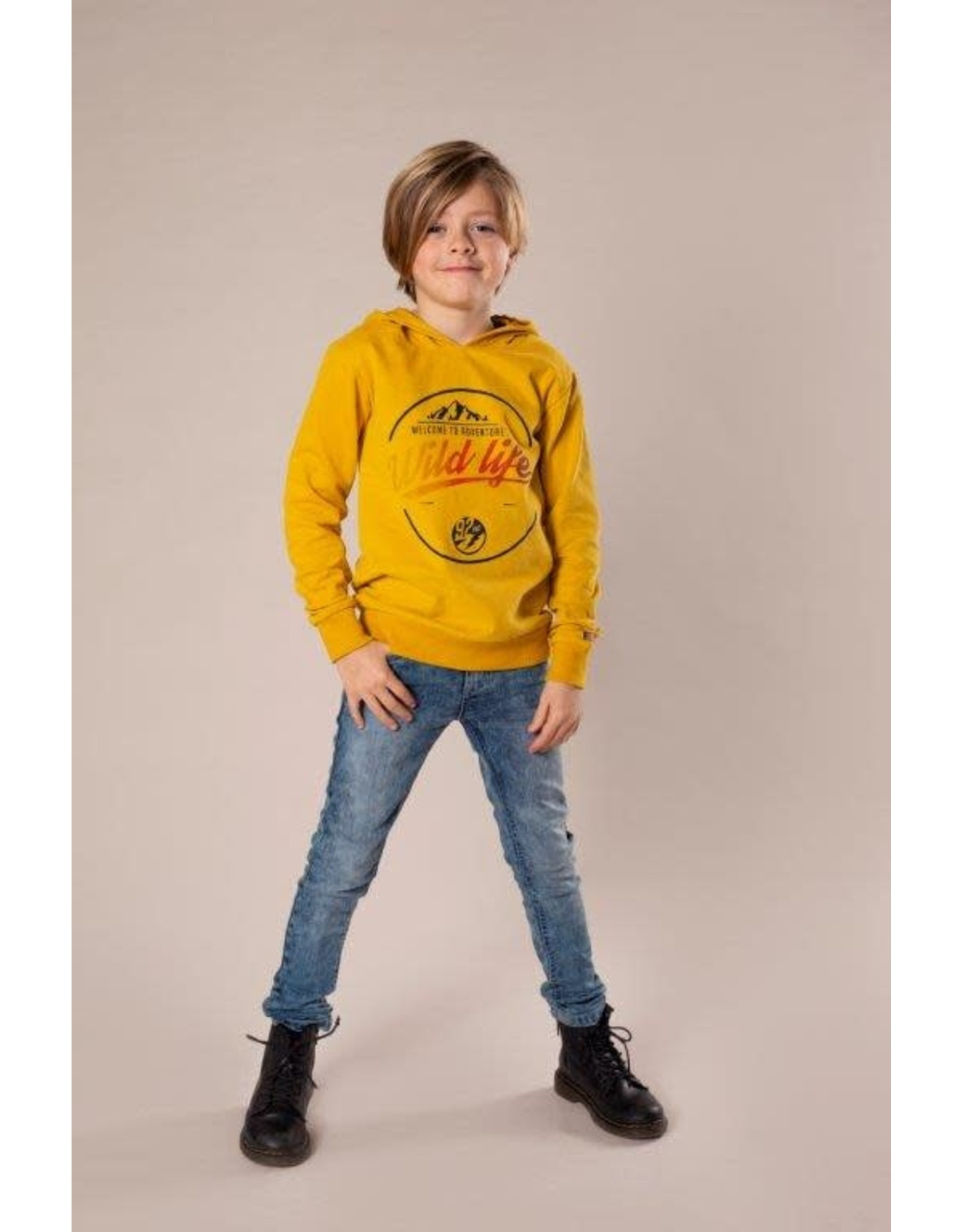 DJ Dutchjeans DJ Dutchjeans jongens hoodie Wild Life Ochre