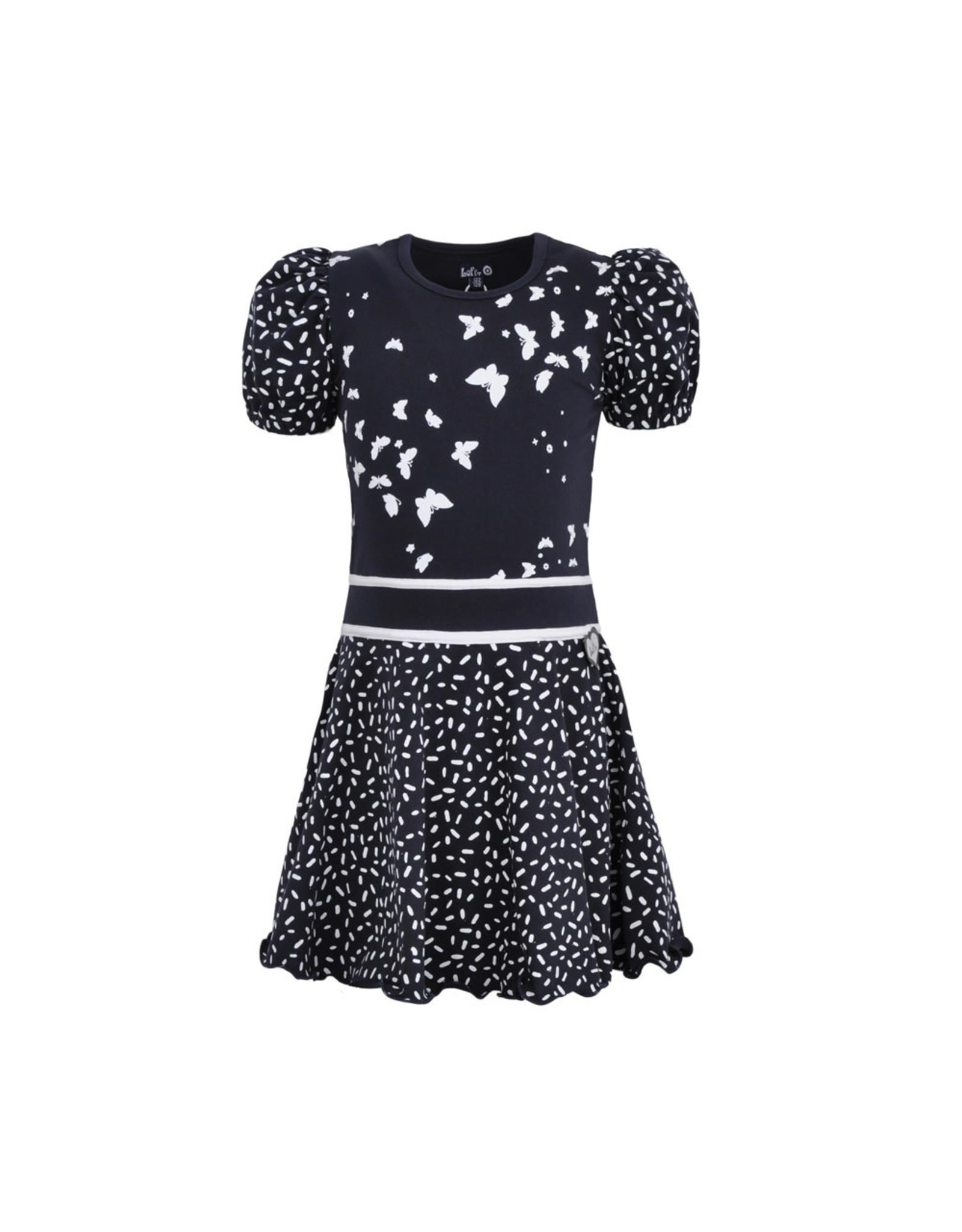 LoFff Loff meiden korte mouwen jurk Loffely Blue Flower