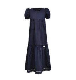 LoFff Loff meiden lange korte mouwen jurk Puffy Dark Blue