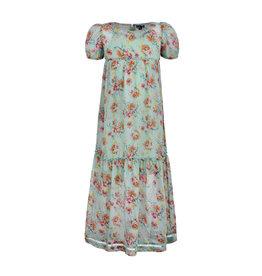 LoFff Loff meiden lange korte mouwen jurk Puffy Mint Flower