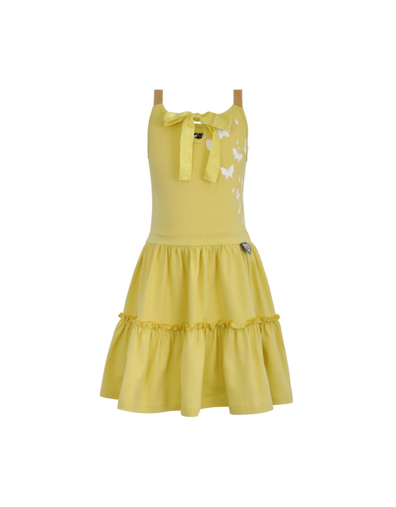 LoFff Loff meiden mouwloze jurk Fancy Yellow