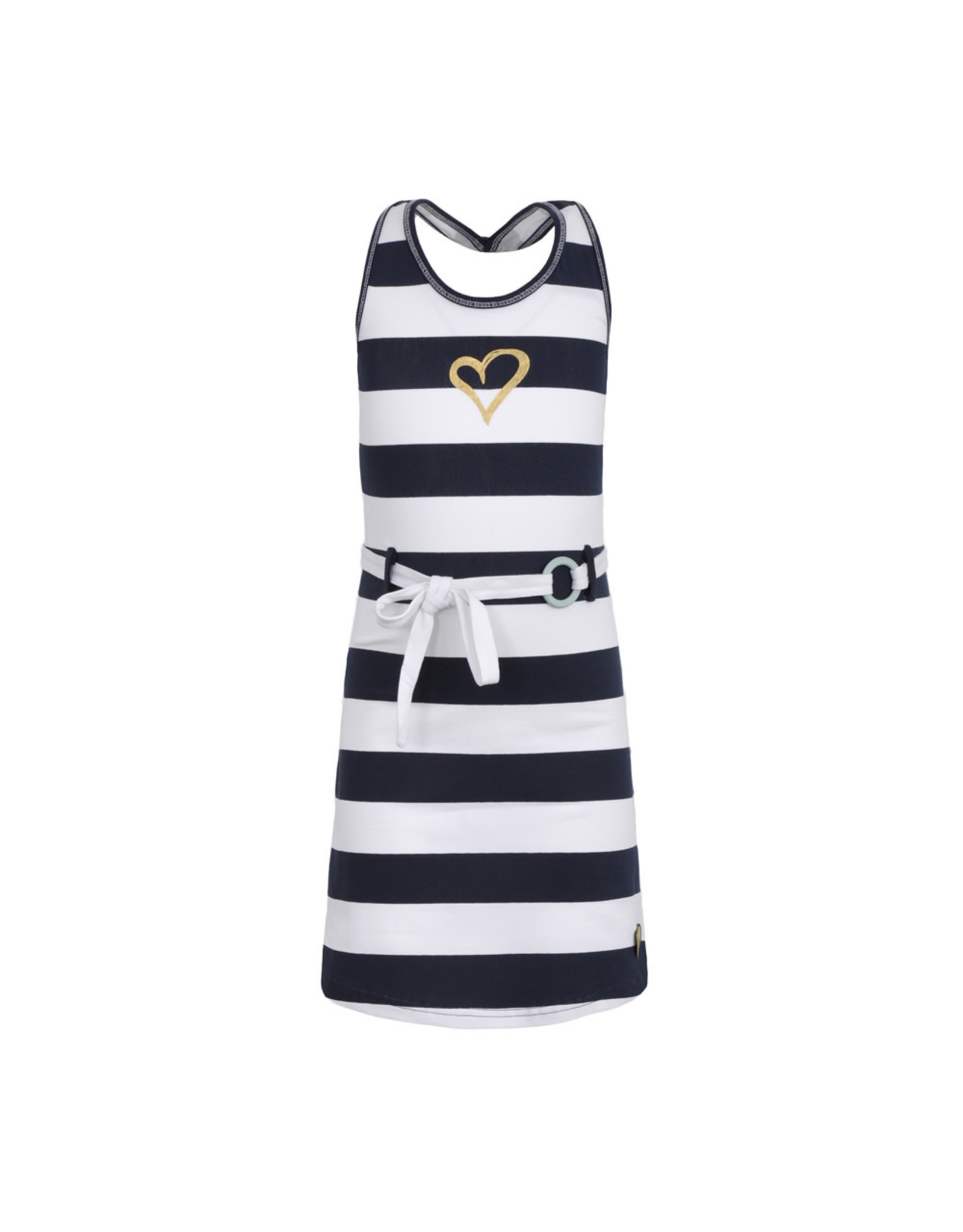 LoFff Loff meiden mouwloze jurk Fancy Block Stripe Blue White