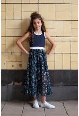 LoFff Loff meiden maxi mouwloze jurk Blue Flower