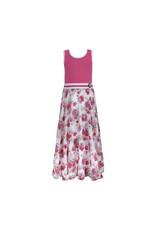 LoFff LoFff meiden mouwloze jurk maxi Multiflower White