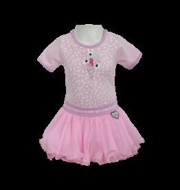 LoFff LoFff baby meisjes korte mouwen jurk Dancing Bubblegum
