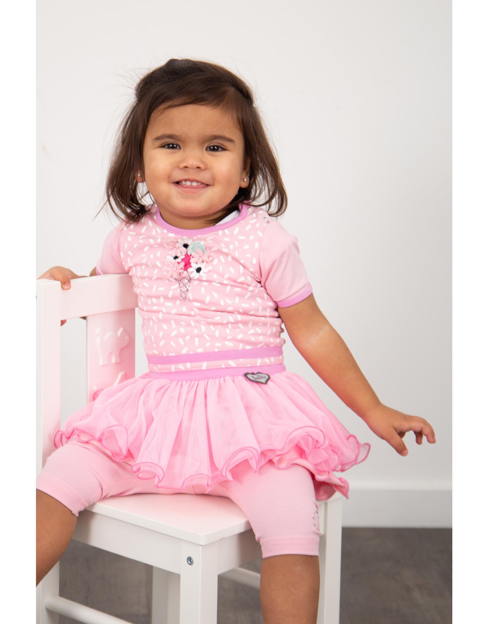 LoFff LoFff baby meisjes 3/4 legging Bubblegum