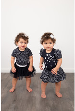 LoFff LoFff baby meisjes korte mouwen jurk Loffely Blue Flower