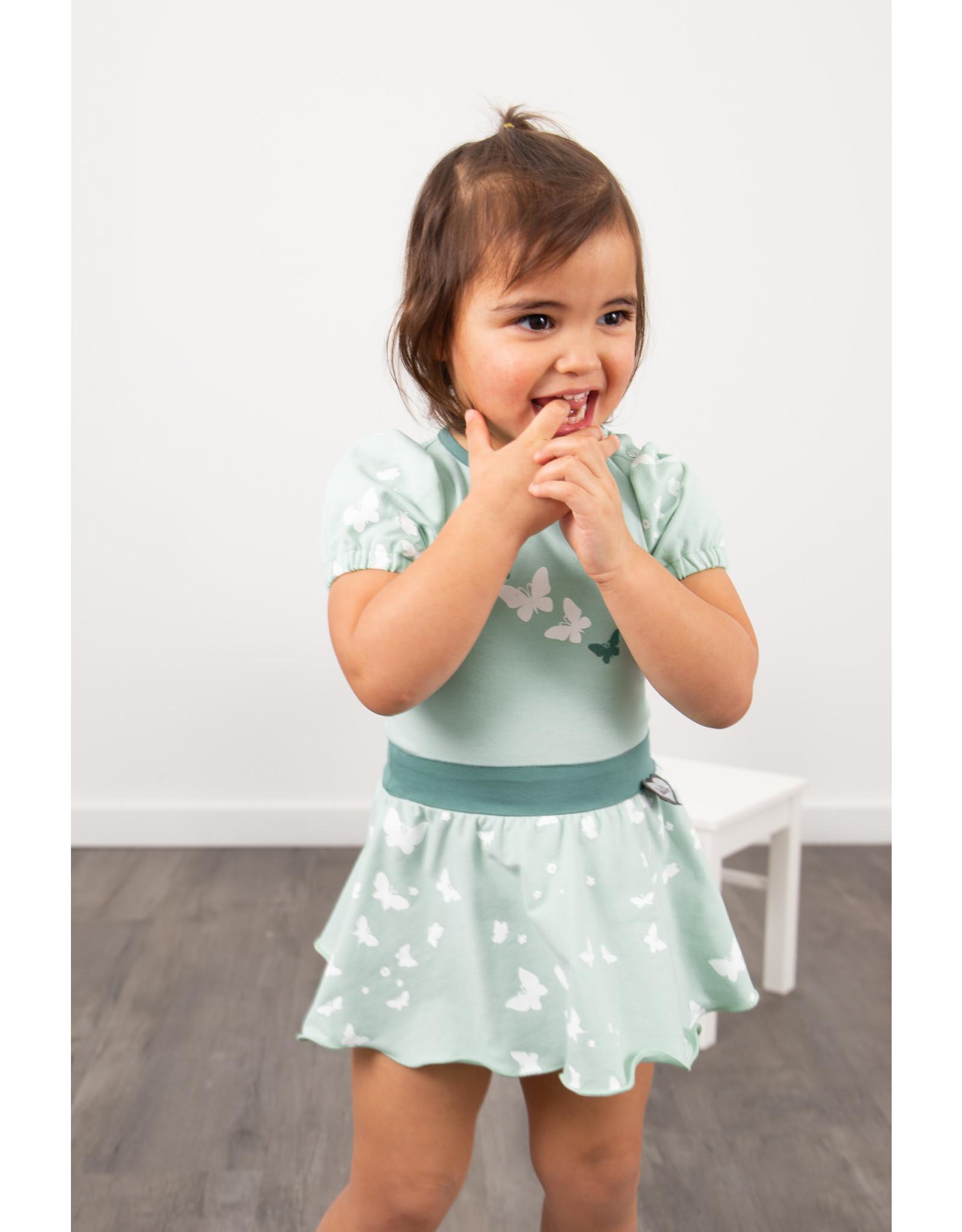 LoFff LoFff baby meisjes korte mouwen jurk Loffely Mint