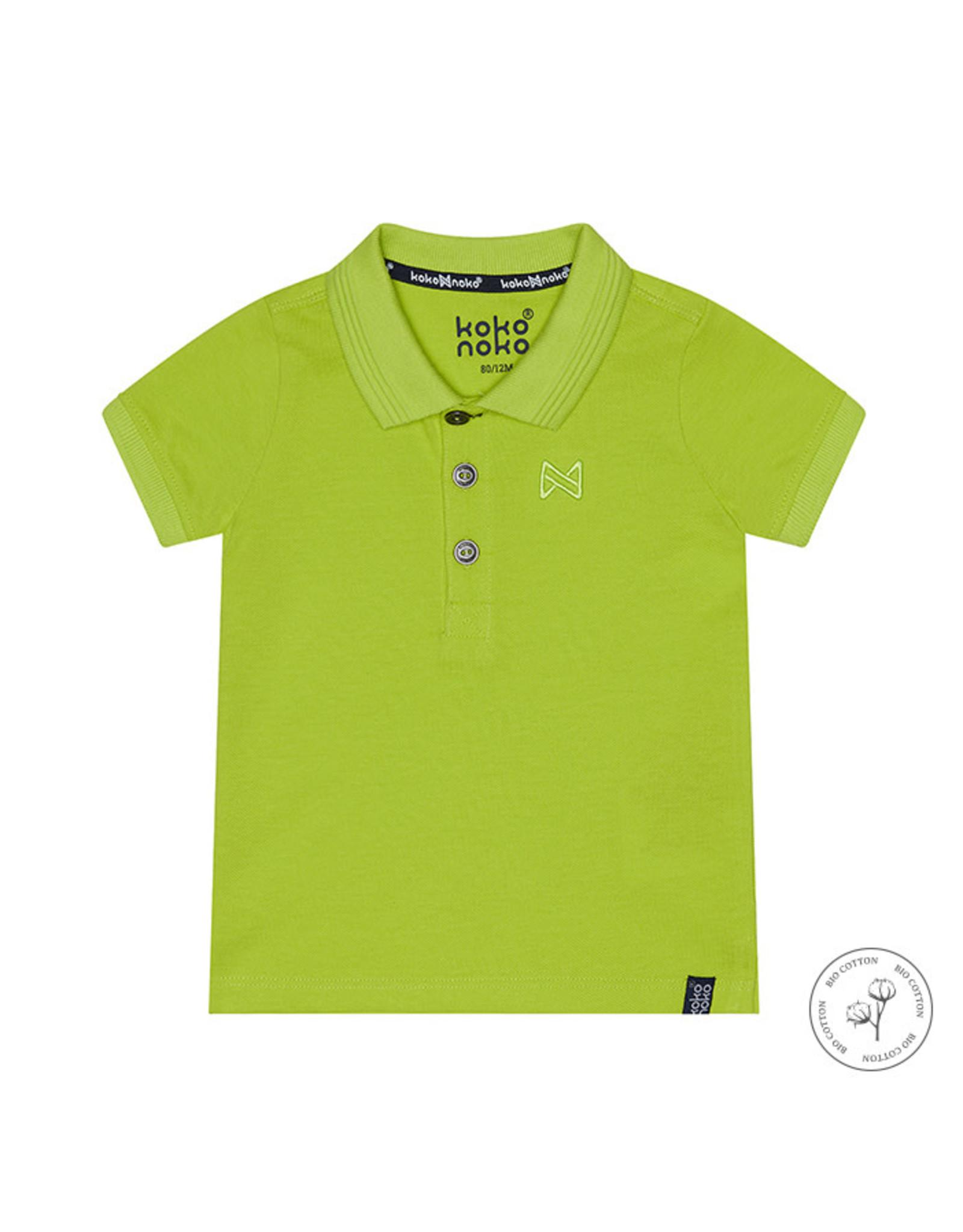 Koko Noko Koko Noko jongens Bio Cotton polo t-shirt Noah Neon Yellow