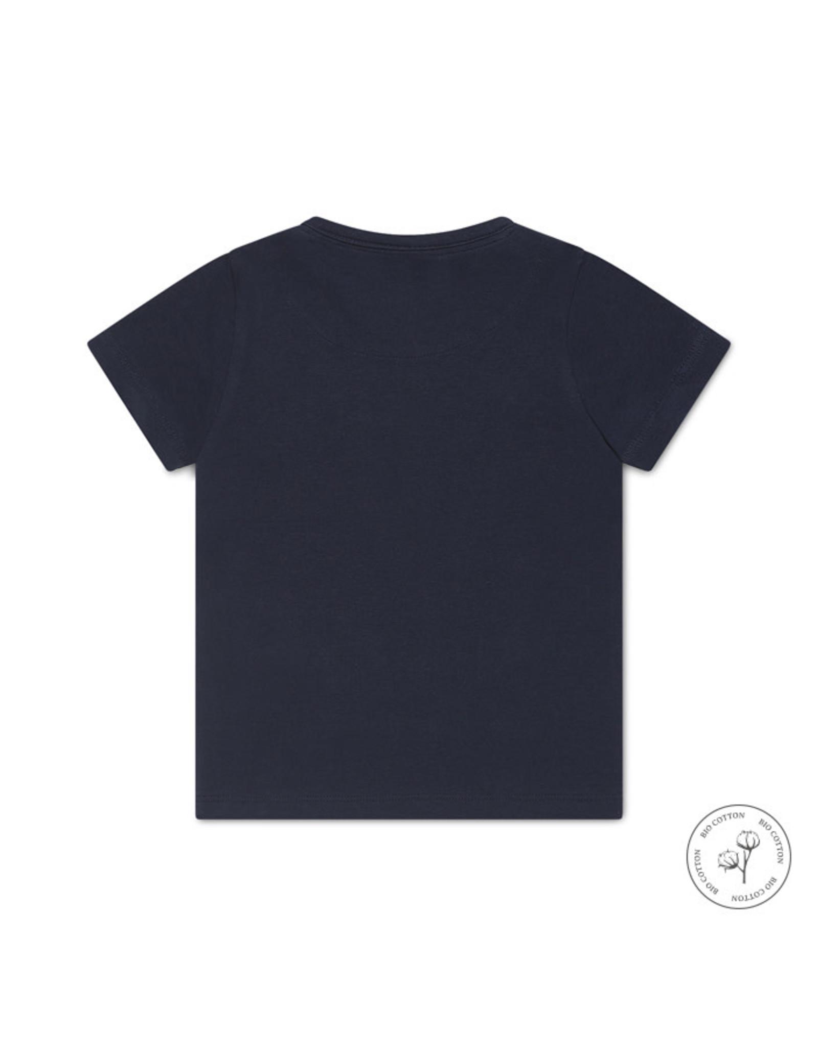 Koko Noko Koko Noko jongens Bio Cotton t-shirt Nigel Navy