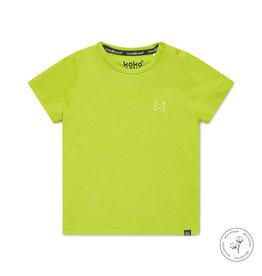 Koko Noko Koko Noko jongens Bio Cotton t-shirt Nigel Neon Yellow