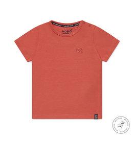 Koko Noko Koko Noko jongens Bio Cotton t-shirt Nigel Neon Coral