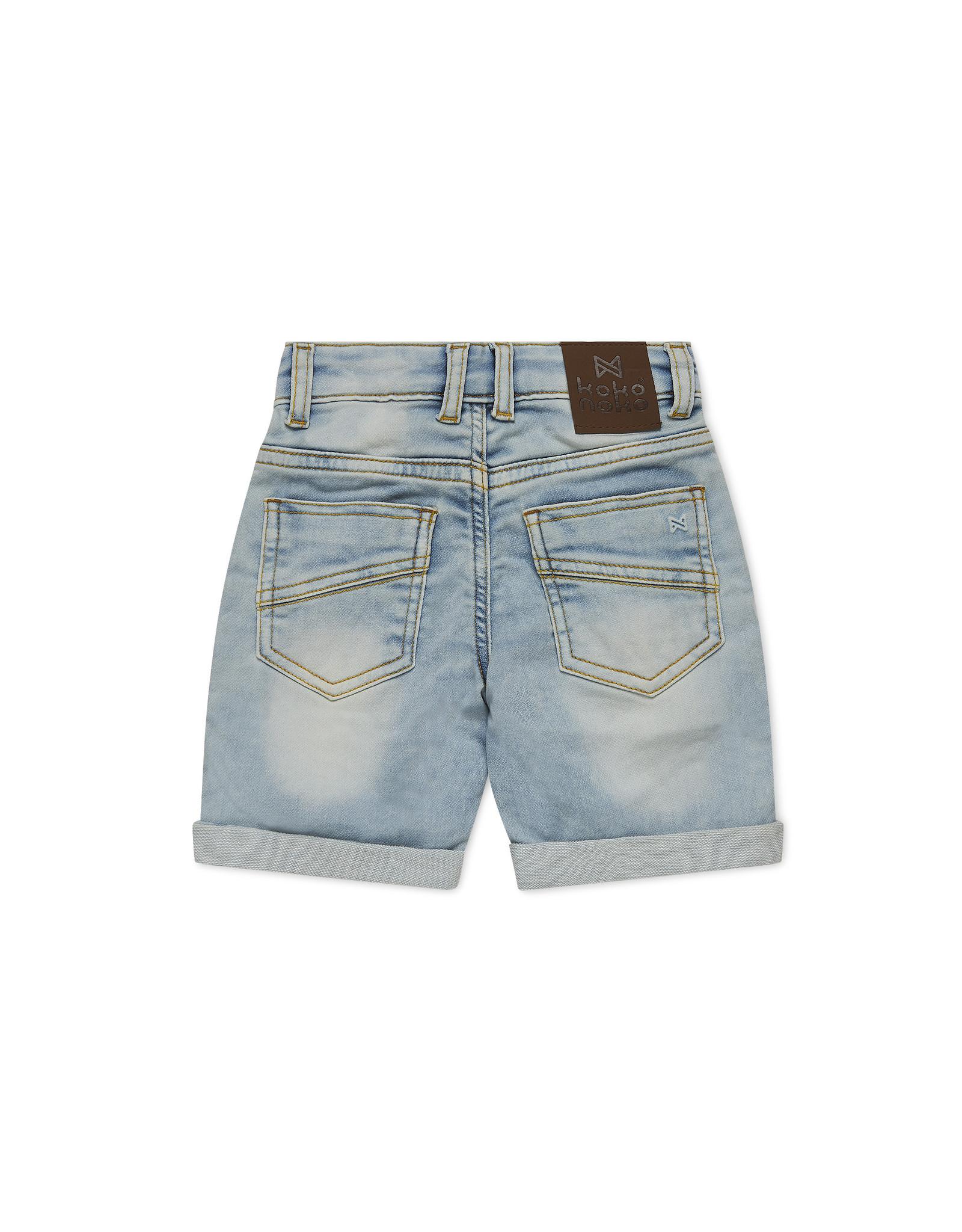 Koko Noko Koko Noko jongens Bio Cotton korte jeans Nils Blue