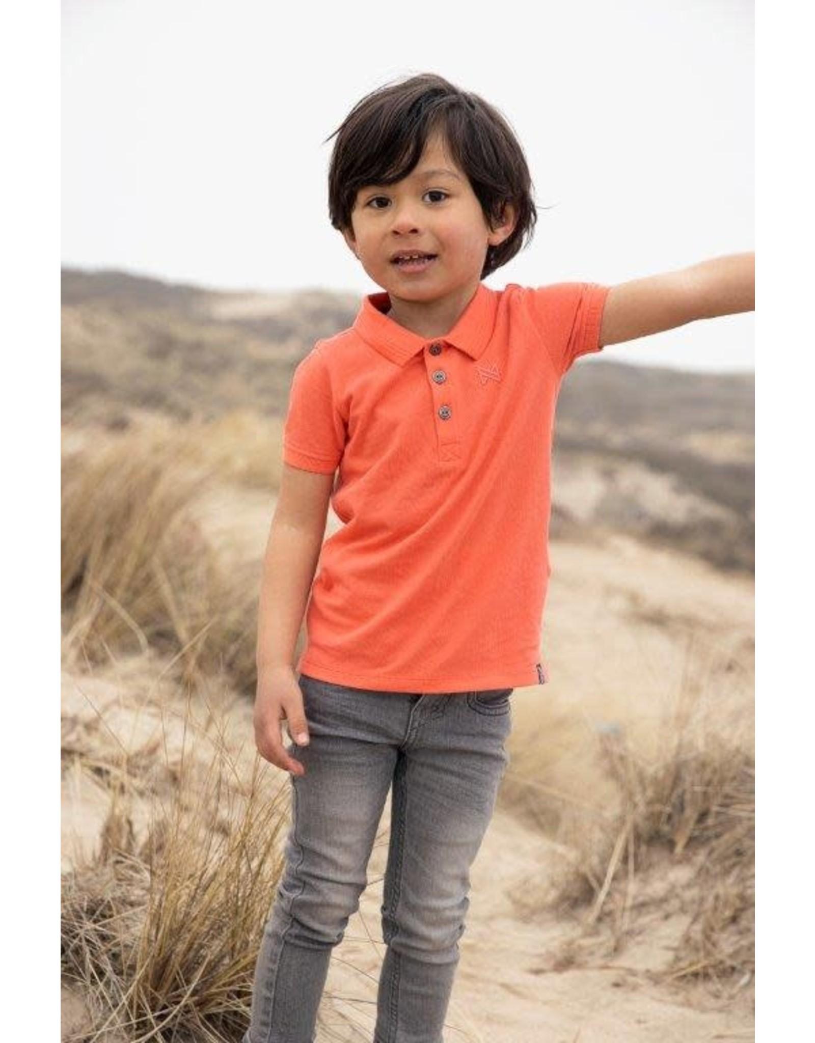 Koko Noko Koko Noko jongens Bio Cotton polo t-shirt Noah Neon Coral