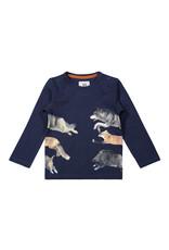 Koko Noko Koko Noko jongens shirt Forest Animals Navy