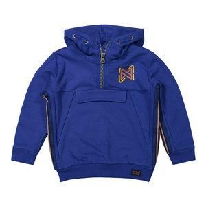 Koko Noko Koko Noko jongens hoodie met bies Blue