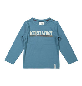 Koko Noko Koko Noko jongens shirt Logo Petrol