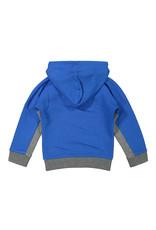 Koko Noko Koko Noko jongens hoodie colorblock Bright Blue Grey