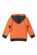 Koko Noko Koko Noko jongens hoodie met rits Dark Grey Orange