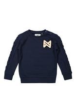 Koko Noko Koko Noko meisjes sweater met pailletjes logo Navy
