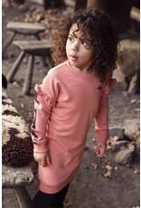 Koko Noko Koko Noko meisjes jurk met rouches en bies Dusty Pink